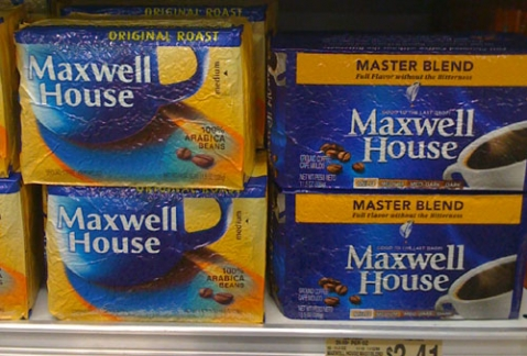 Even Maxwell House can't resist a major tweek to their branding.