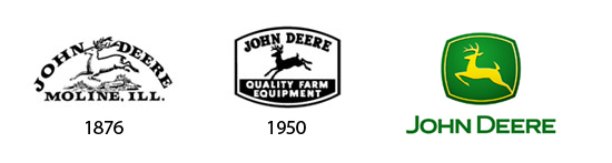 Das John Deere logo is...