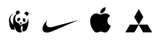Even without colors, names or captions, I bet you can name the famous brands behind these logos