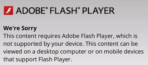 Flash Error