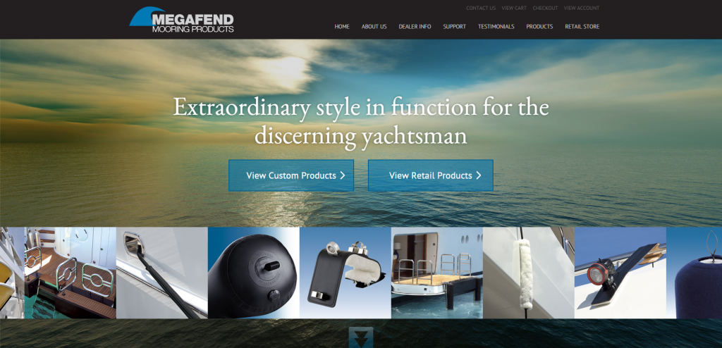 MegaFend 2015 Website Redesign