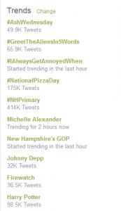 trendinghashtags