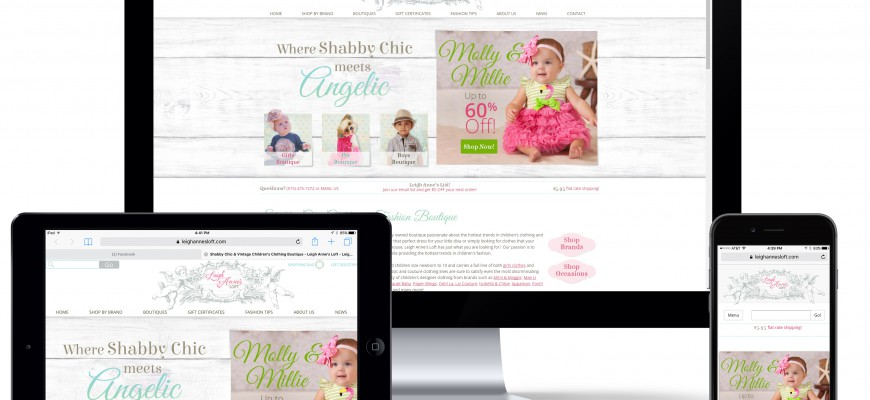 www.leighannesloft.com Mobile Ecommerce Website