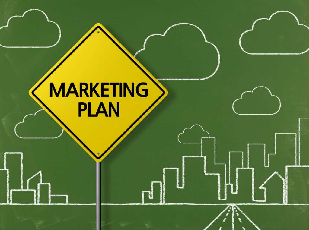 MARKETING PLAN - Business Chalkboard Background