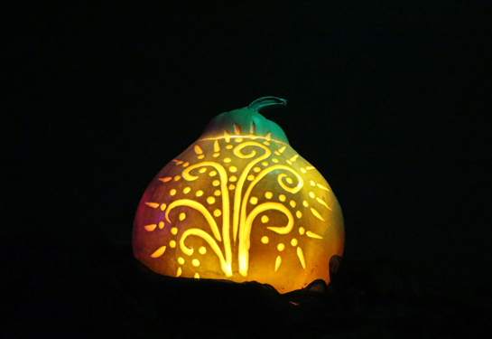 Pumpkin Swirl at Night