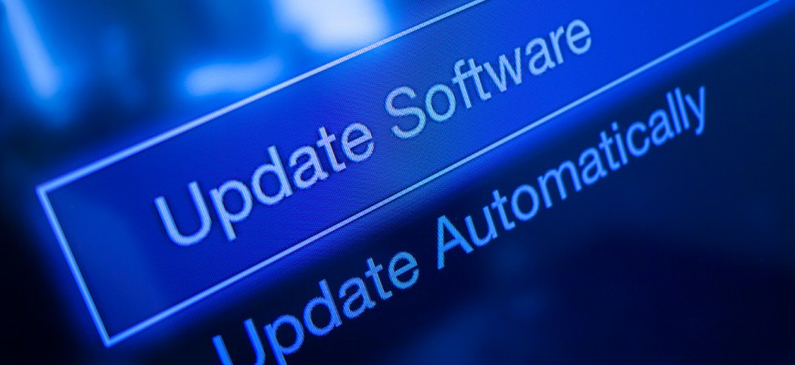Image of a computer screen showing an update ready to install.