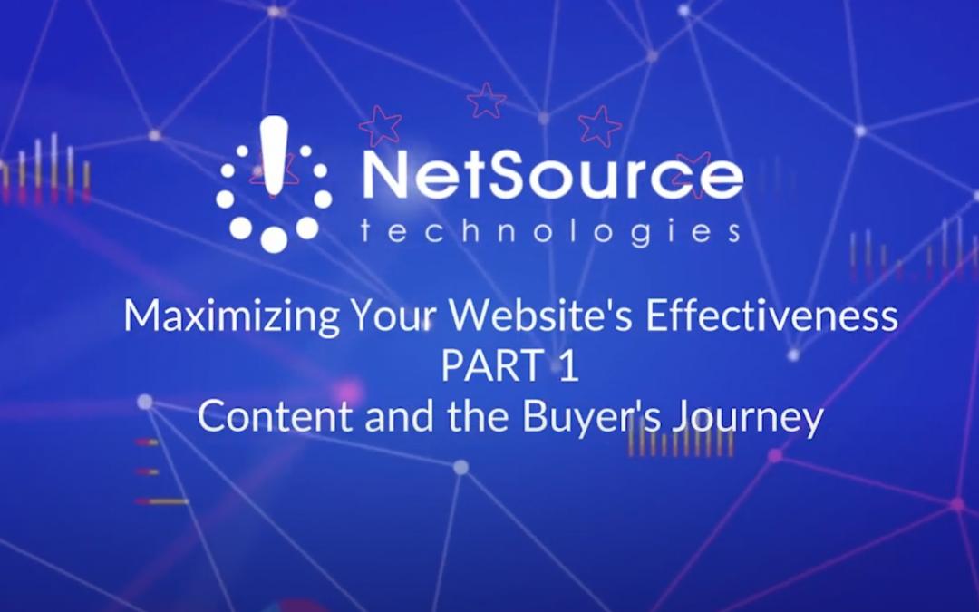 Free Webinar: Website Content and the Buyer's Journey, Part 1